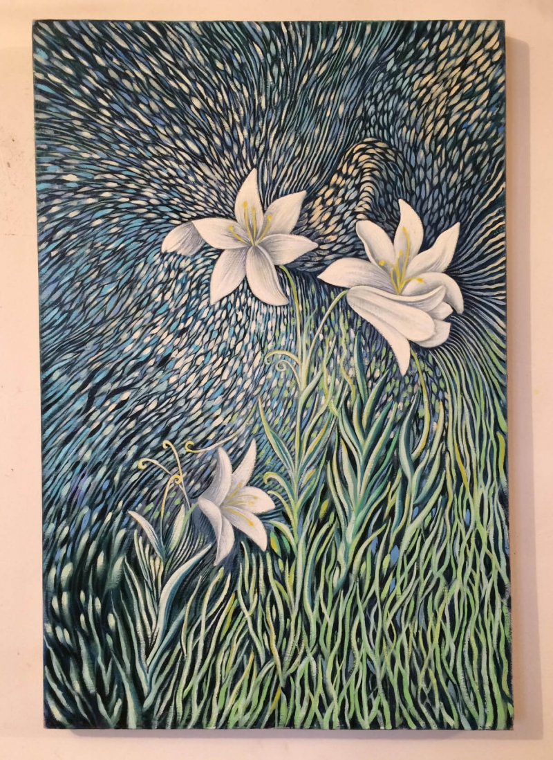 Lilies, by Poghos Petrosyan