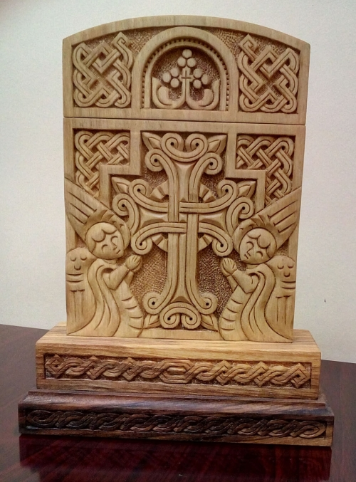 Khachkar, Armenian Alphabet, The Lord's Prayer, Church, by Sergey Barseghyan
