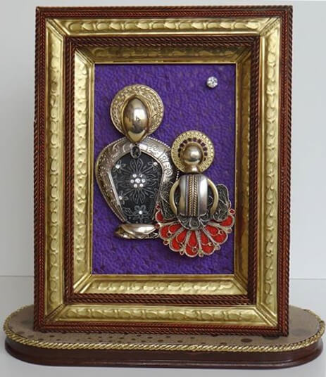 Collage-Assemblage Madonna with a Child, by Edward Ter-Saakov
