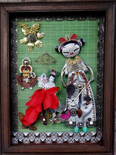 Collage-Assemblage Japanese Theater KABUKI, by Edward Ter-Saakov