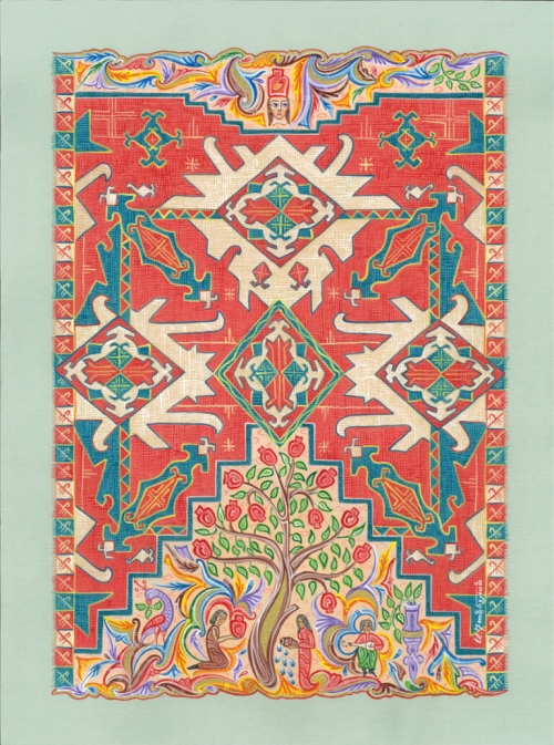 Carpet Pomegranate, by Armen Daneghyan