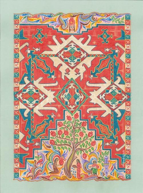 Carpet Pomegranate, by Armen Daneghyan