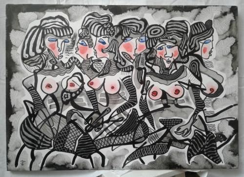 Courtesans, by Hovhannes Aghekyan