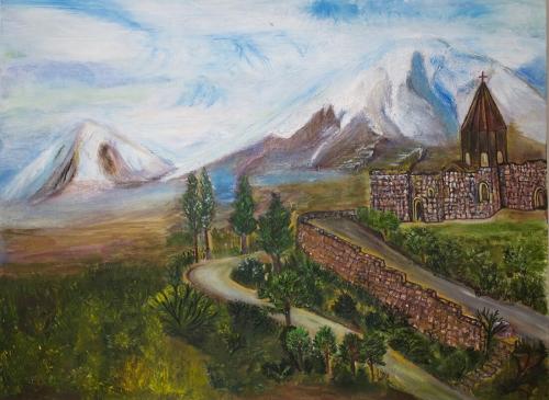 Khor Virap & Mount Ararat, by Hasmik Khalafyan