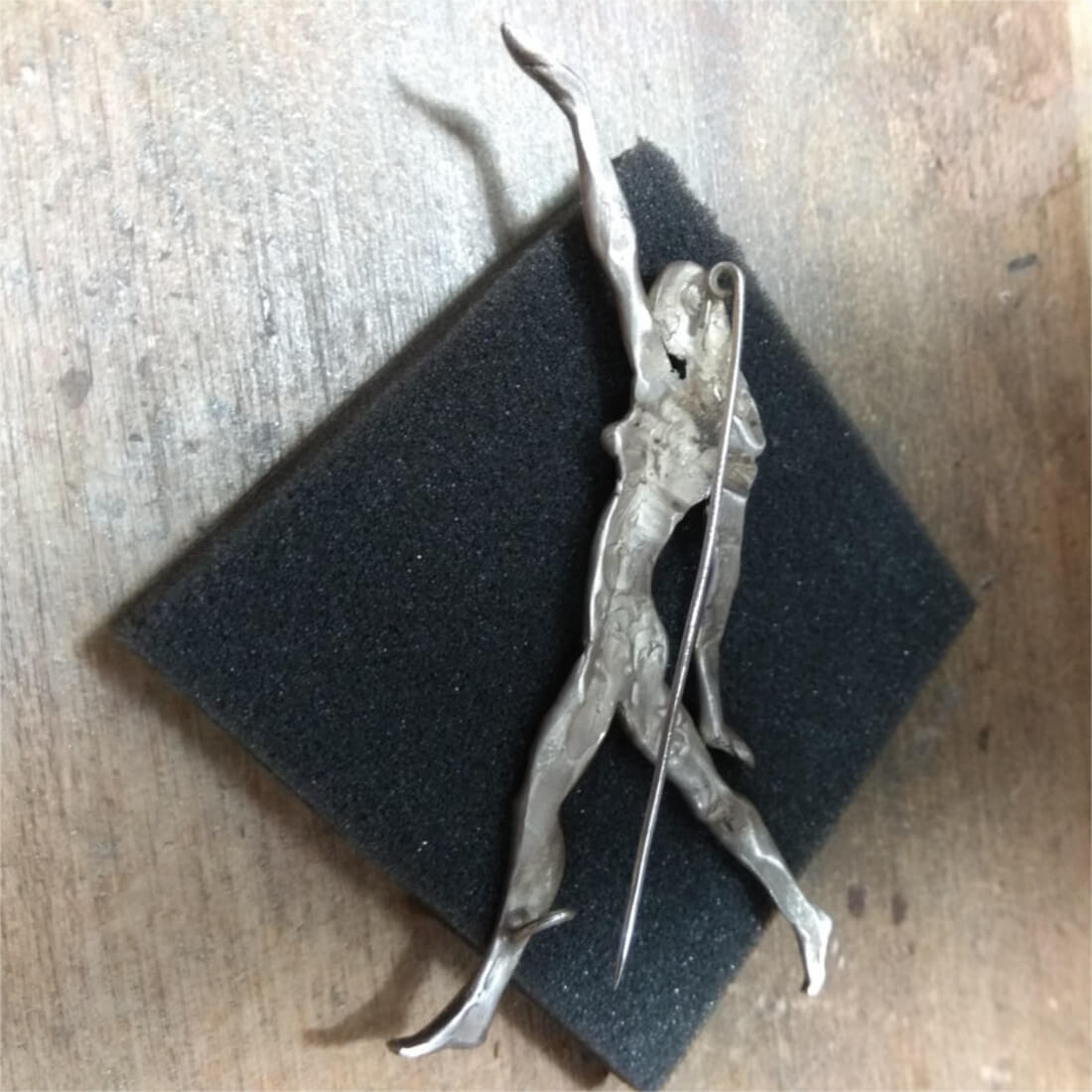 Sculpture in Jewelry - Brooch with Athlete, by Hovik Kasapyan