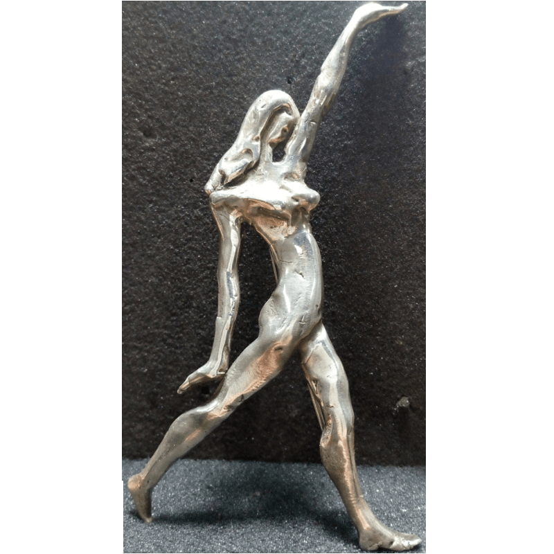 Sculpture in Jewelry- Brooch with athlete, by Hovik Kasapyan