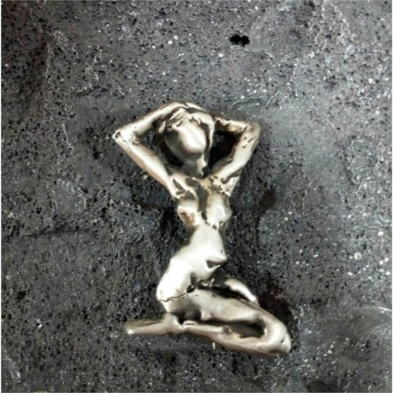 Sculpture in Jewelry - Brooch with Naked Woman, by Hovik Kasapian