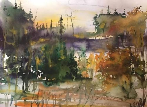 Autumn Landscape, by Anna Saakian