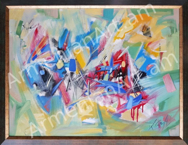 Color and Line or Abstraction and Combinations, by Hovhannes Aghekyan