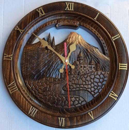 Wooden Clock - Khor Virap