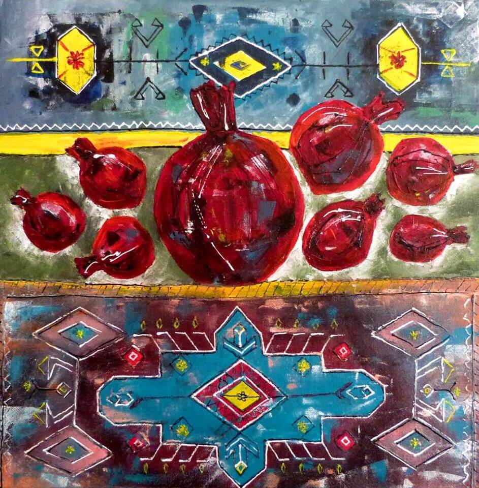 Pomegranate Painting, by Arusyak Hovakimyan