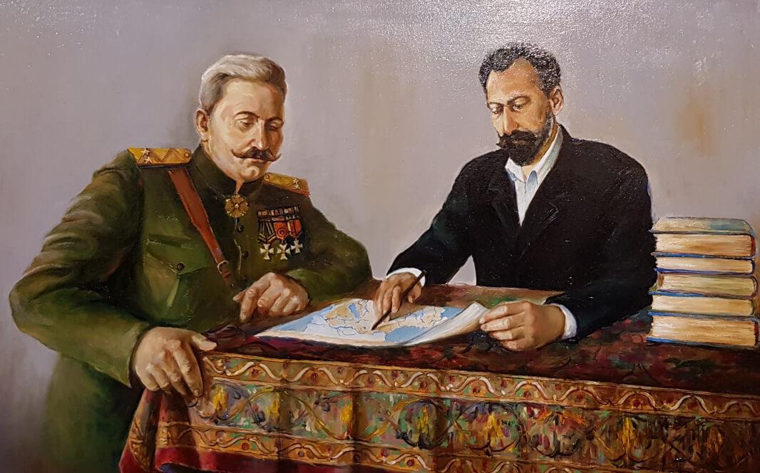Andranik and Toumanyan, by Gevorg Arshakyan