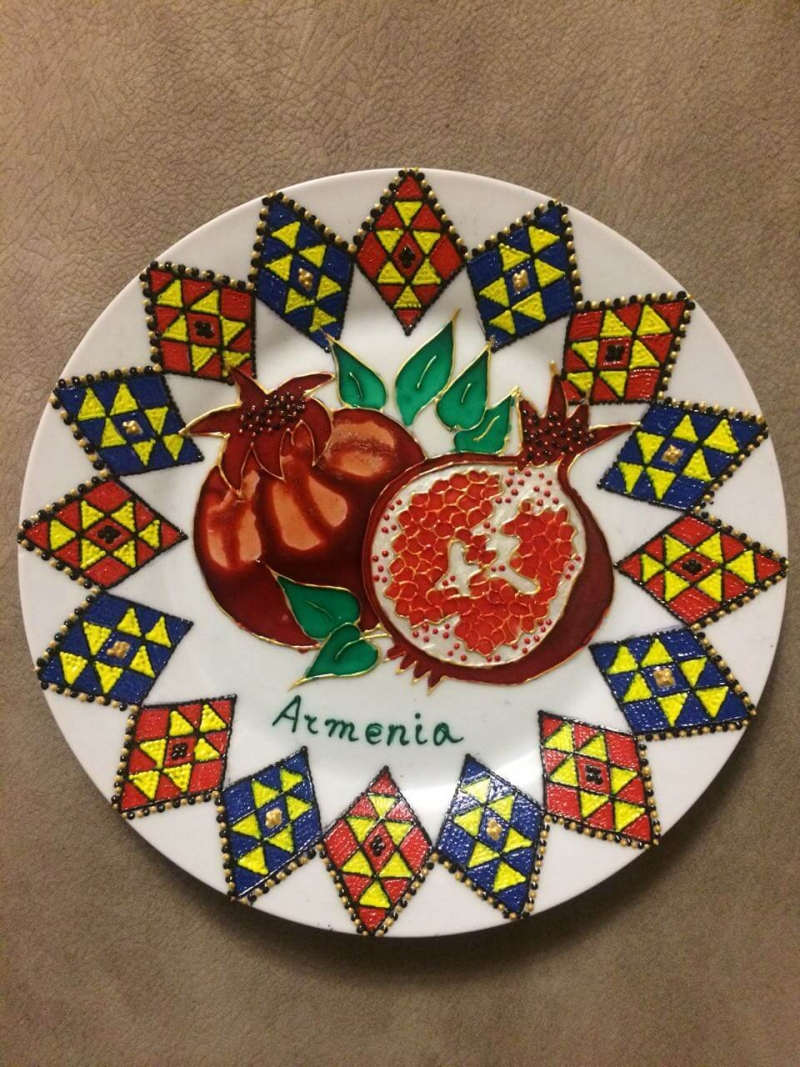 Pomegranate Plate, by Anahit Matevosyan