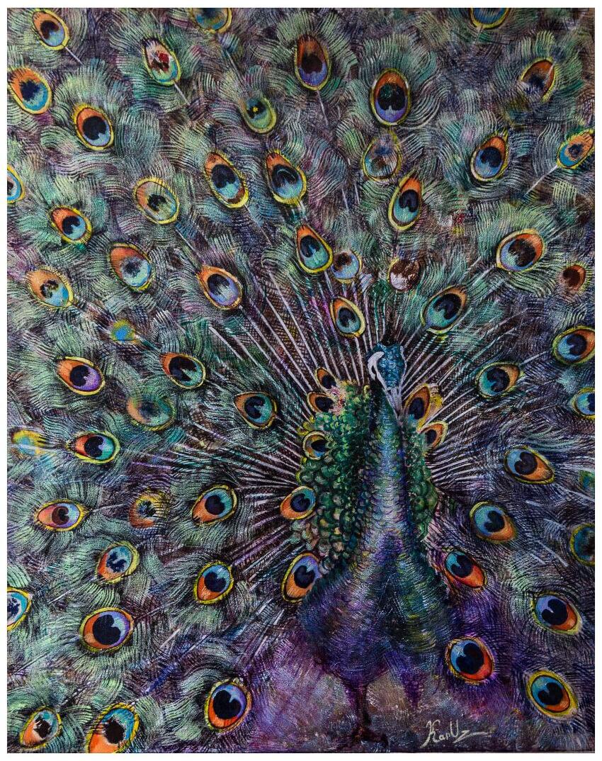 Peacock, by KARUZ (Karen Uzunyan)