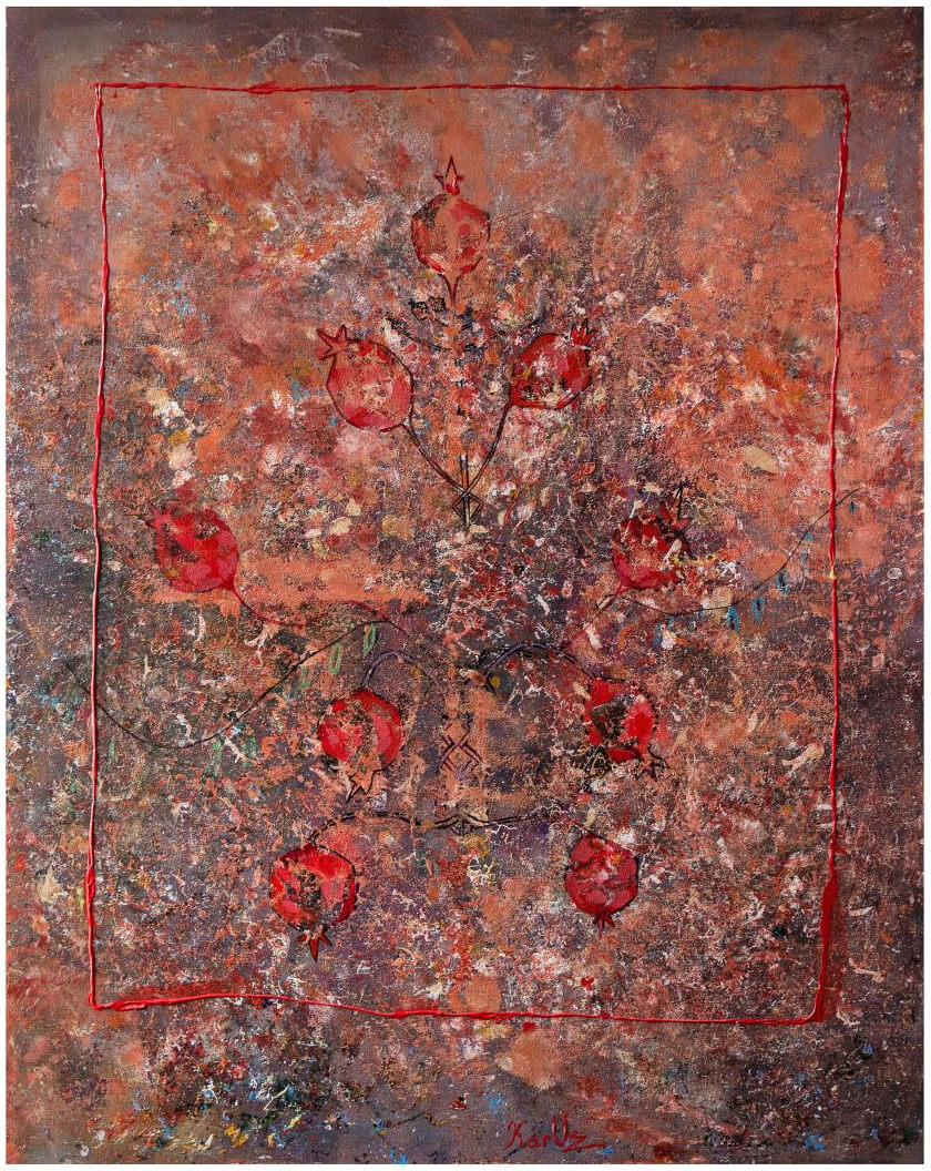 Pomegranate Tree, by KARUZ (Karen Uzunyan)