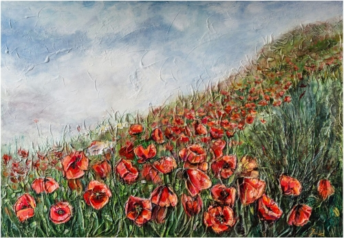 Poppies, by KARUZ (Karen Uzunyan)