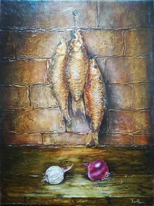 Still Life Fishes, by KARUZ (Karen Uzunyan)