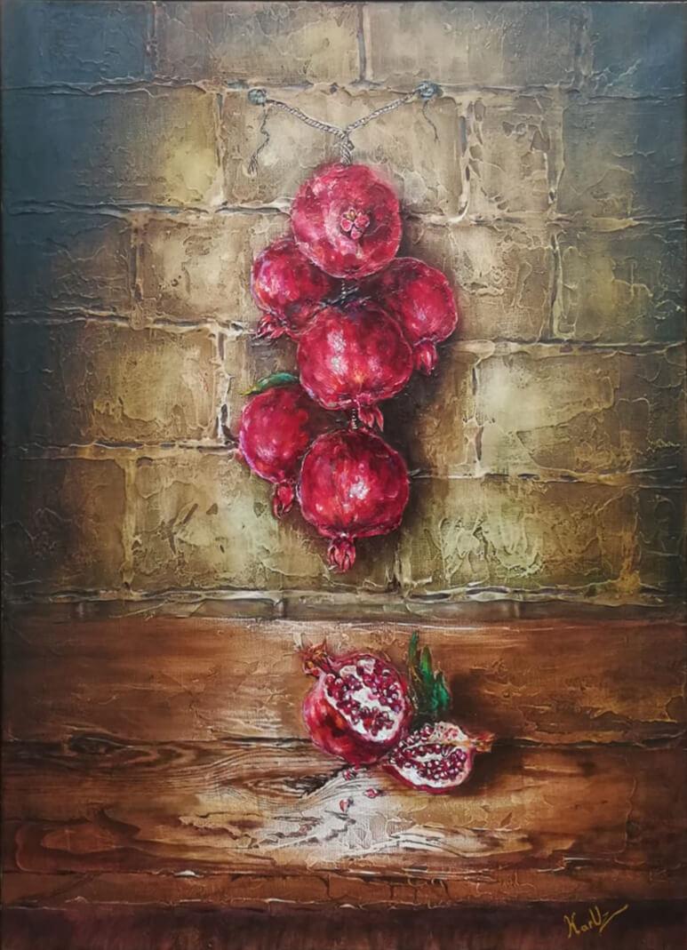 Still Life Pomegranates, by KARUZ (Karen Uzunyan)