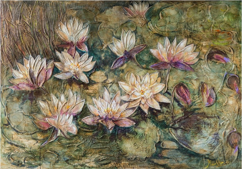 Water Lilies, by KARUZ (Karen Uzunyan)