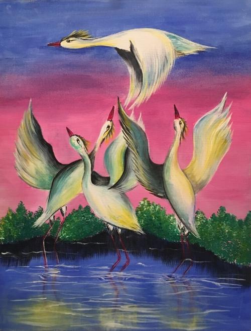 Cranes, by Milena Badalyan