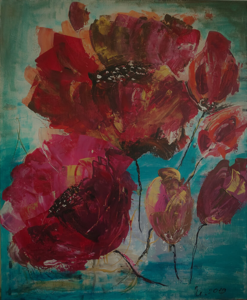 Poppies, by Armenuhi Burmanyan