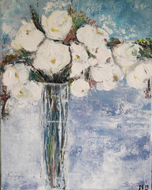 Flowers, by Armenuhi Burmanyan