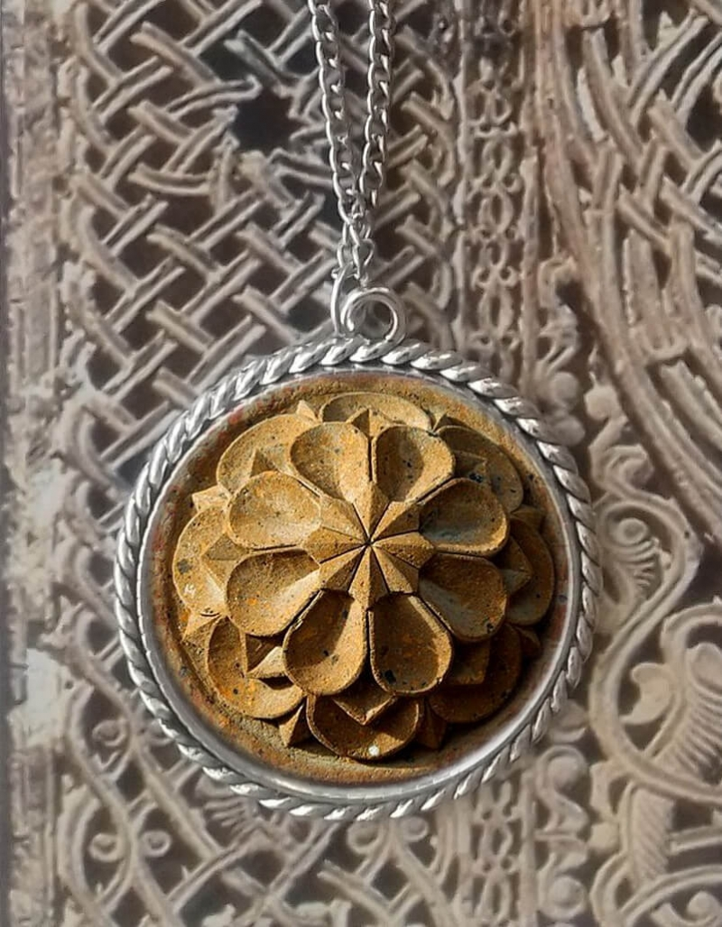Necklace with Armenian cross-stone ornaments, by Anahit Harutyunyan.
