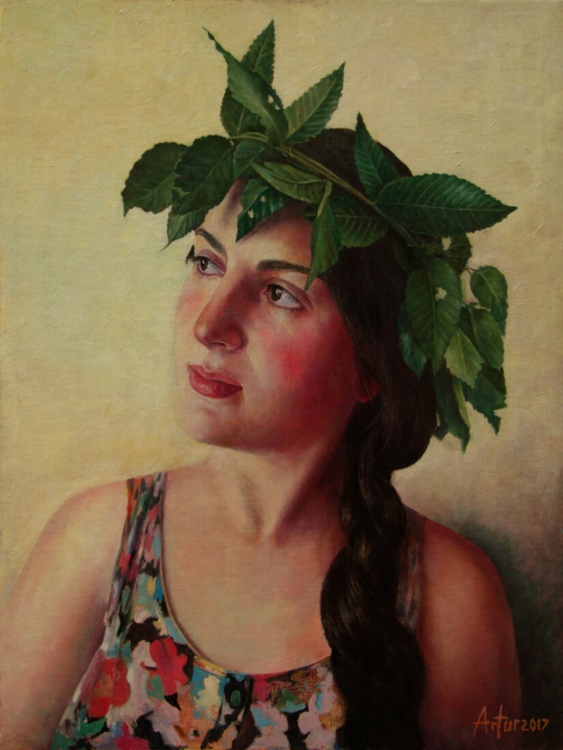 Portrait - Anush, by Artur Mkhitaryan
