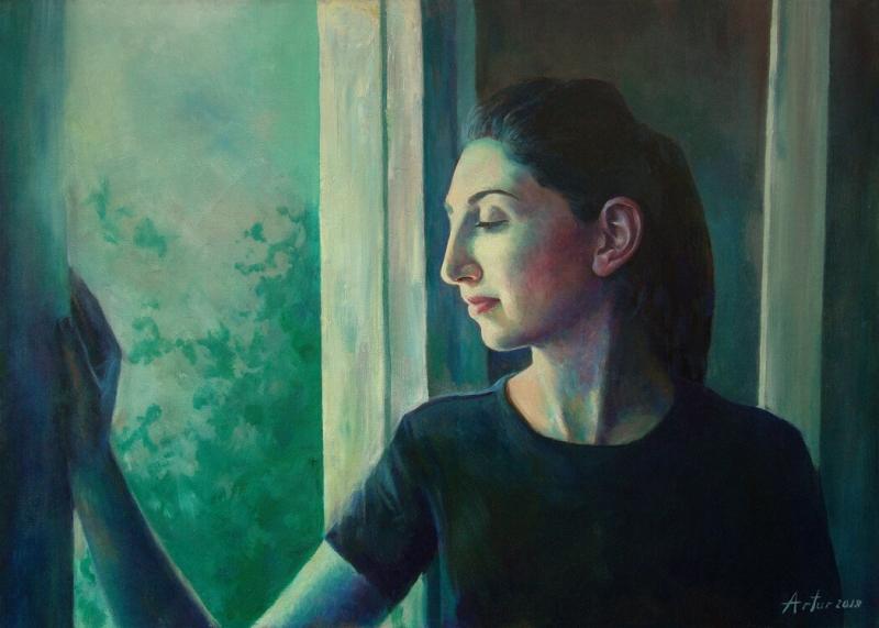 Portrait - Ashkhen, by Artur Mkhitaryan