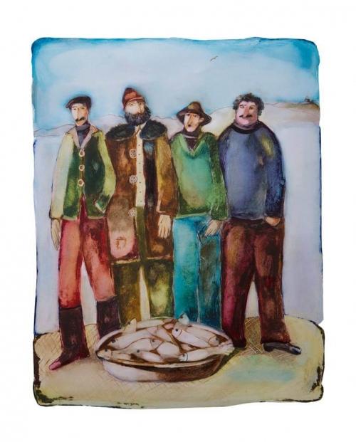 Sevan's Fishermen, by Davit Nerkararyan