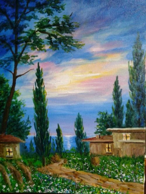 Landscape painting, by Harutiun Nasilyan