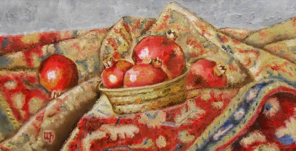 Still life with pomegranates, by Artur Isayan