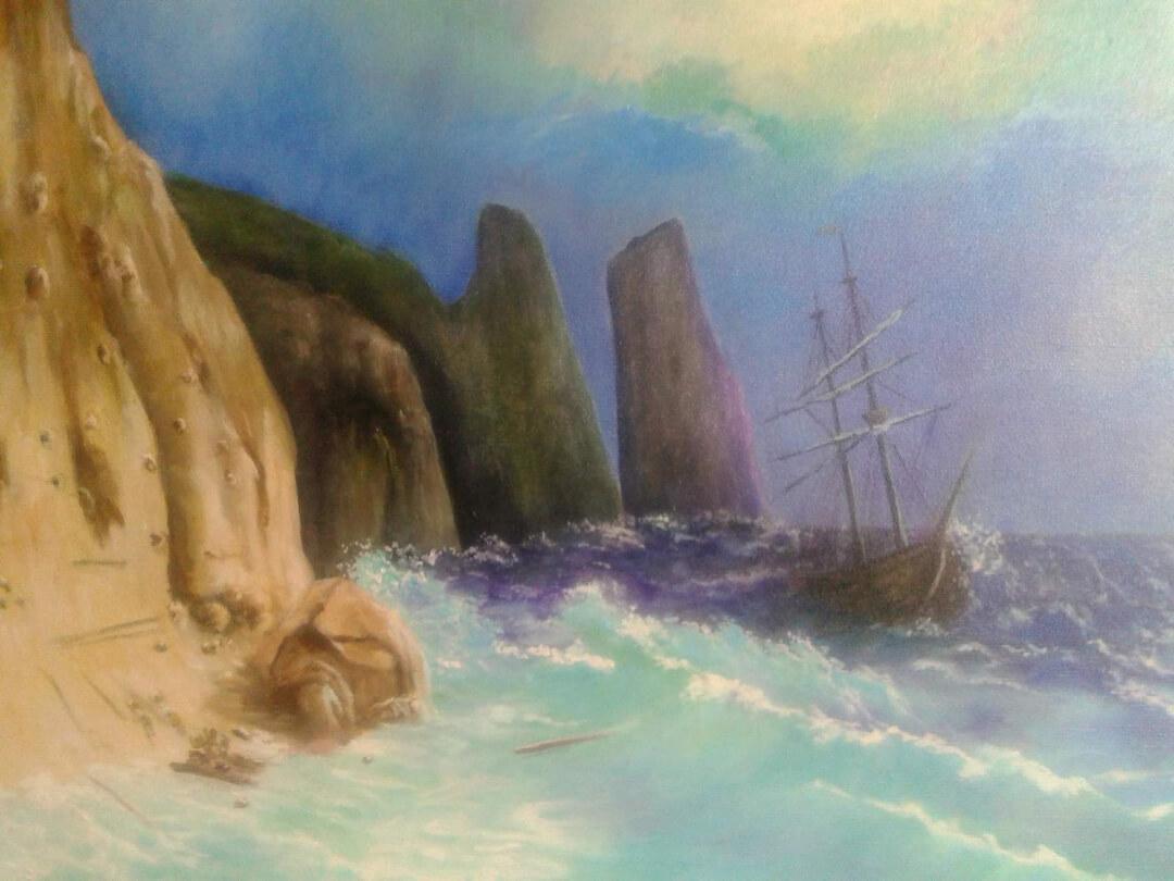 Stormy sea, by Harutiun Nasilyan