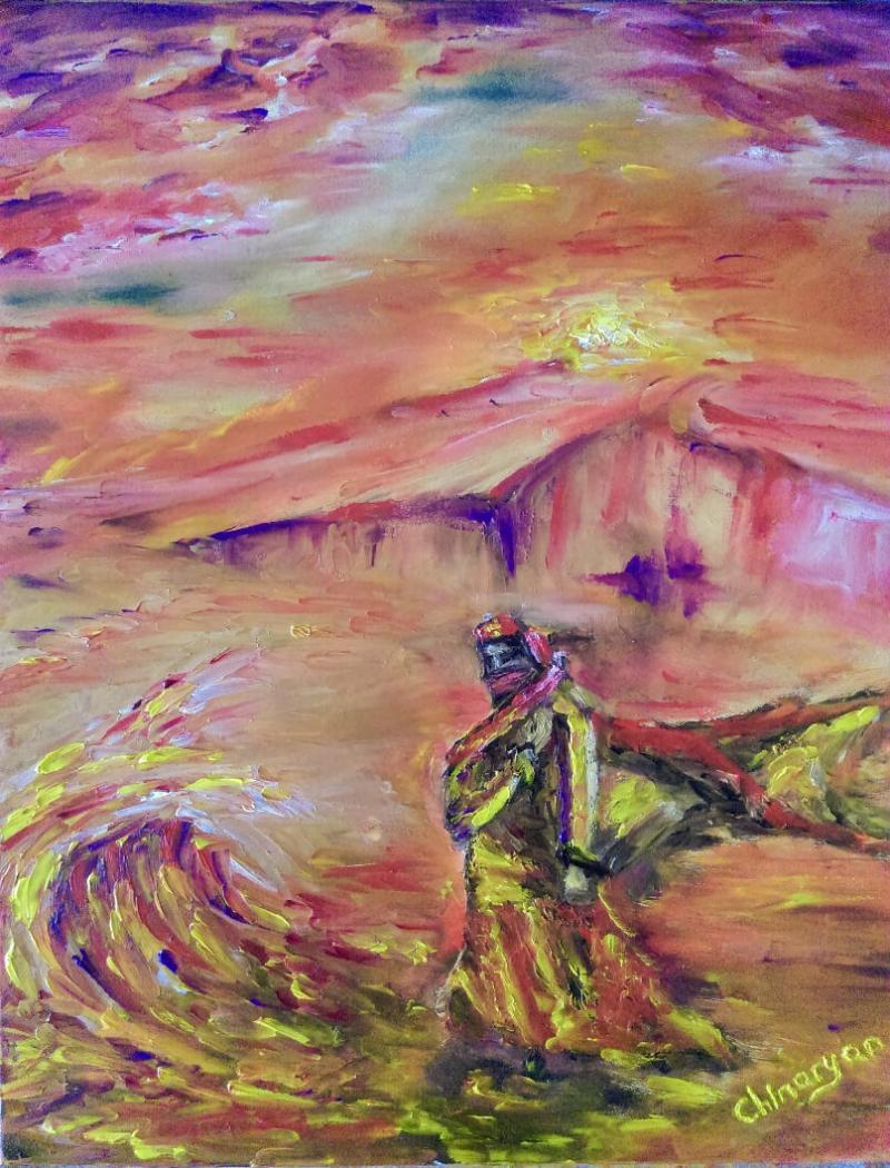 Desert Girl, by Hakob Chinaryan