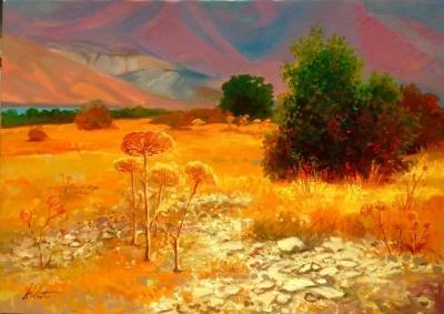 «Բնապատկեր․ Սևանի լեռները ամռանը», հեղինակ՝ Աշոտ Ազատյան