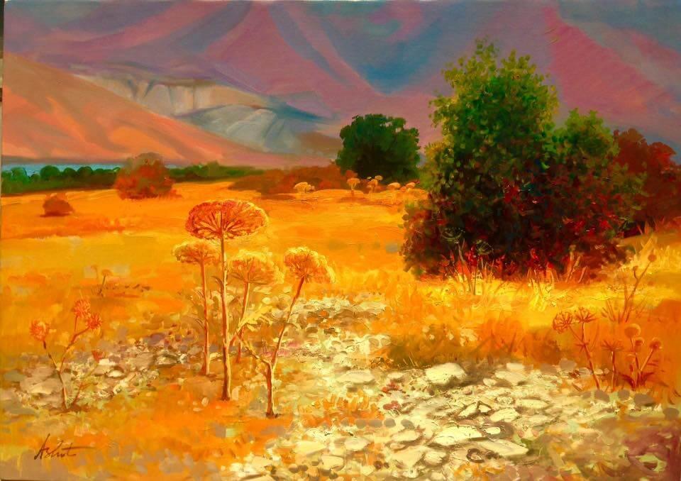 Landscape. Sevan mountains in summer, by Ashot Azatyan