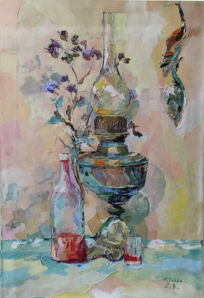 «Լամպով նատյուրմորդ», հեղինակ՝ Անահիտ Միրիջանյան