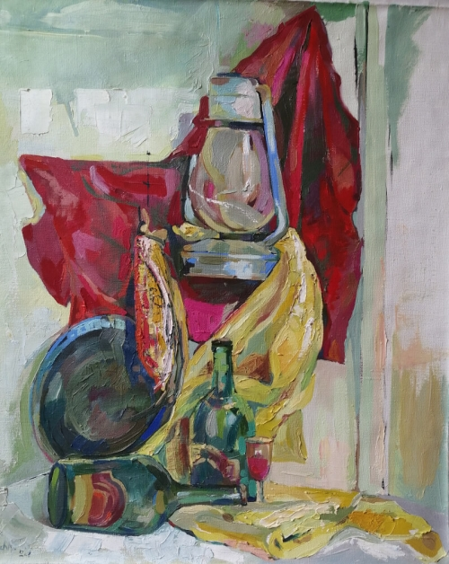 Still Life with Lamp, by Anahit Mirijanyan