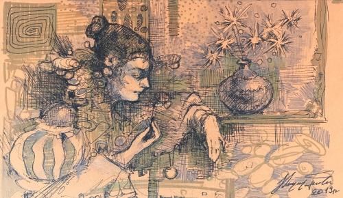 «Պատուհանի մոտ», հեղինակ՝ Արտավազդ Թալալյան