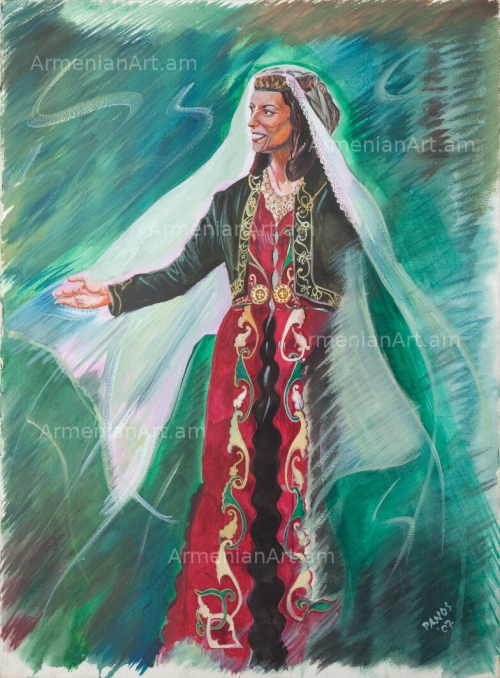 Princess in Traditional Clothes, by Panos Ghanimian