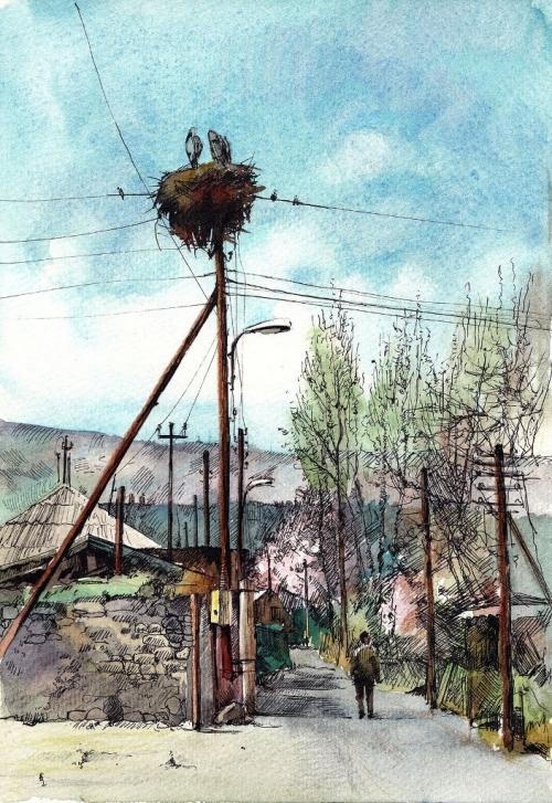 Spring in Ervandashat, by Gayane Egiazaryan