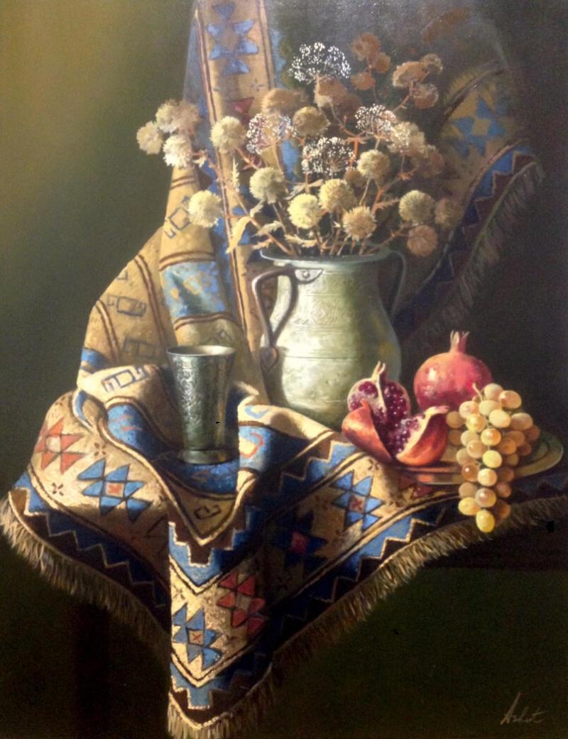 «Նատյուրմորտ ծաղիկներով», հեղինակ՝ Աշոտ Ազատյան