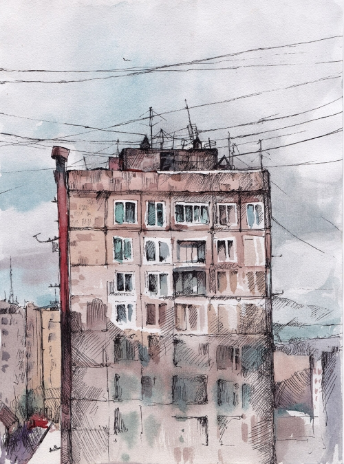 View from the Window, by Gayane Egiazaryan