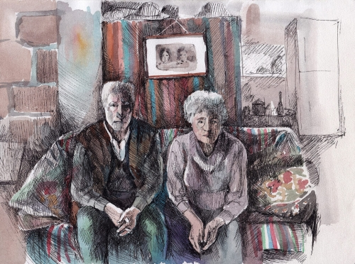 Grandmother and Grandfather, by Gayane Egiazaryan