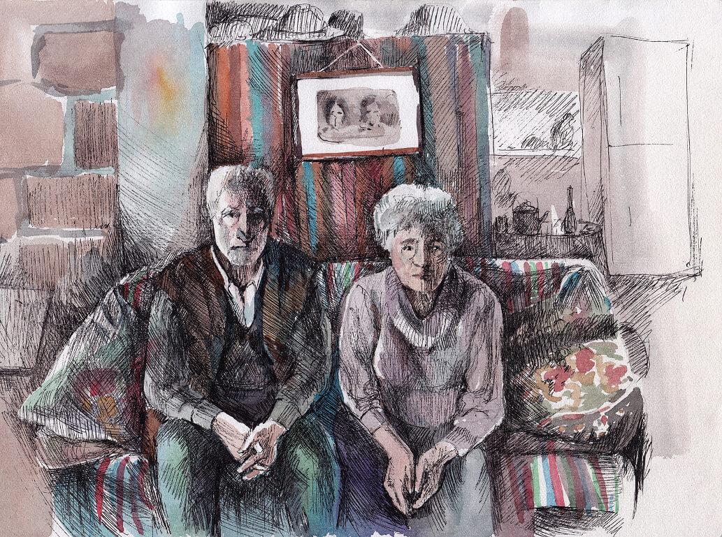 Grandmother and Grandfather, by Gayane Egiazaryan