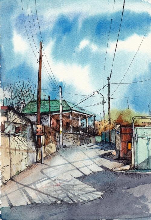Jrvezh Village, by Gayane Egiazaryan