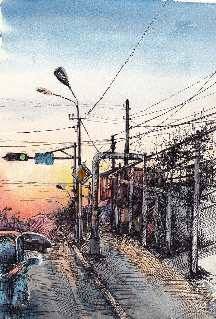 Suburb, Sunset, Quarantine -2, by Gayane Egiazaryan