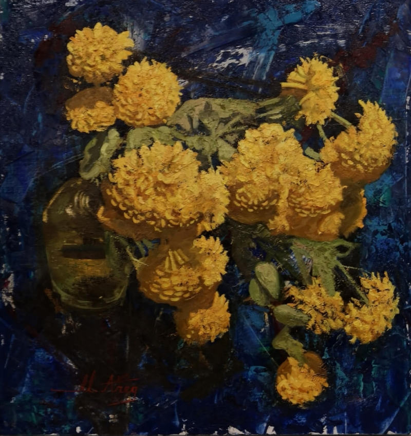 Yellow Flowers, by Areg Mirijanyan