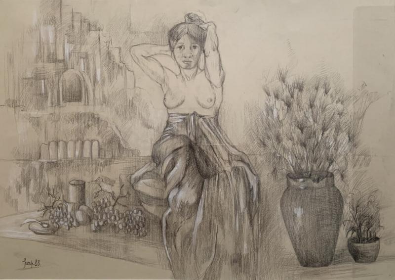 Colombian Woman, by Khani