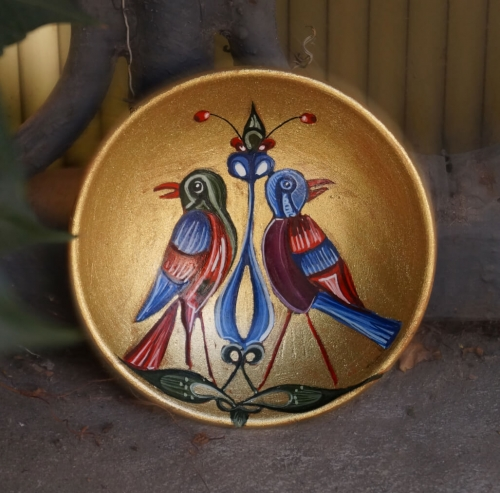 Two Birds from Armenian Miniature, by Mariam Badalyan